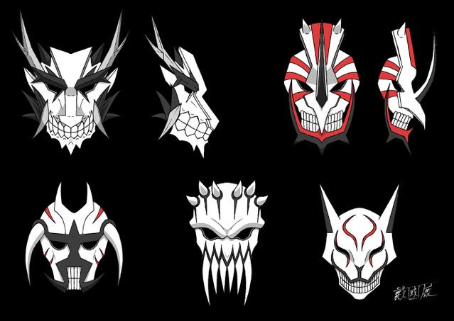 Sapphire Yuudai Vizard_Masks_Set_by_Dark_Shenlong