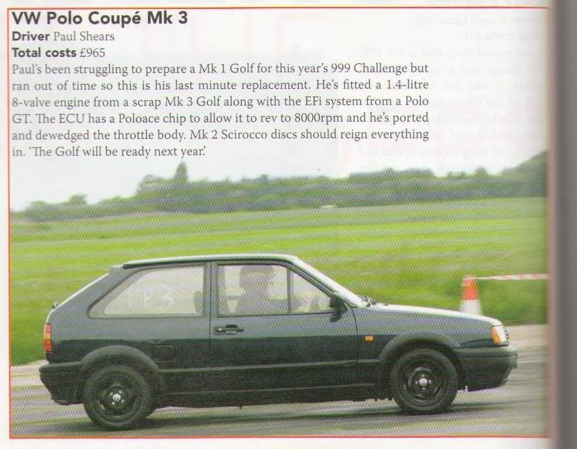 Polo Coupe.... 0-60 in 7.929 & 16.410 quarter mile - Page 3 PRACTICAL