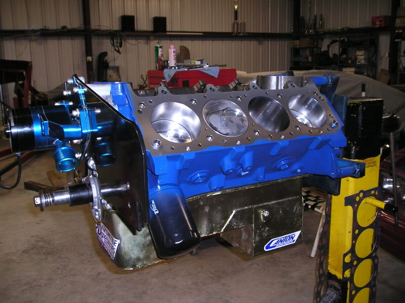 A460 Block: 534ci engine build thread ShortBlockFrontPlateB