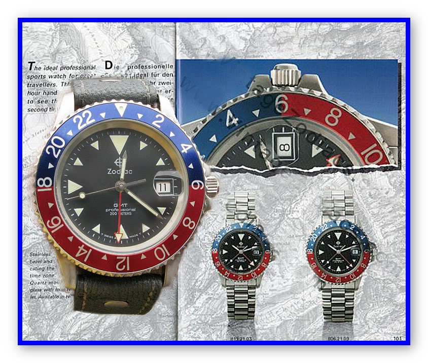 Zodiac GMT from the mid 90s homage... MontageZodiacGMT