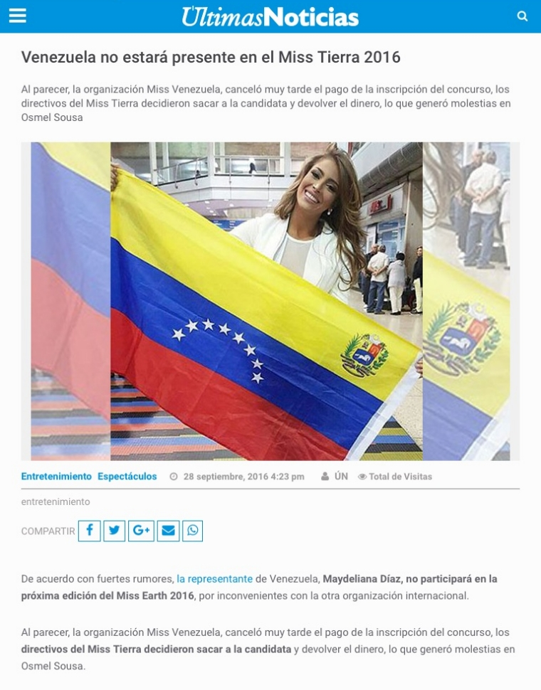 Venezuela no estará presente en el Miss Tierra 2016 0dae3a98-8385-40e8-b54c-9f3c8d91bd0a_zpsdgqu3k2n