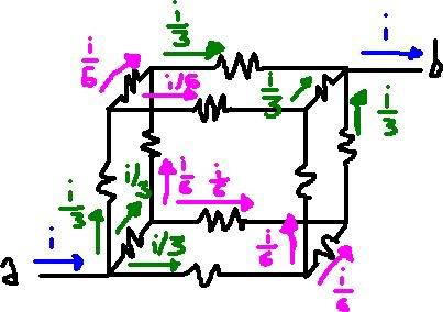 [DESAFIO] A resistência equivalente do circuito vale? Circuitosnocubo