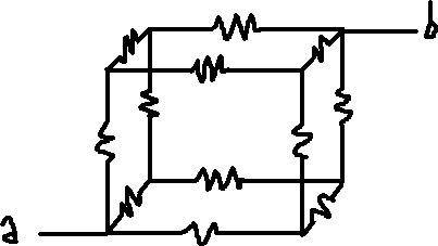 [DESAFIO] A resistência equivalente do circuito vale? Cuboeletrico