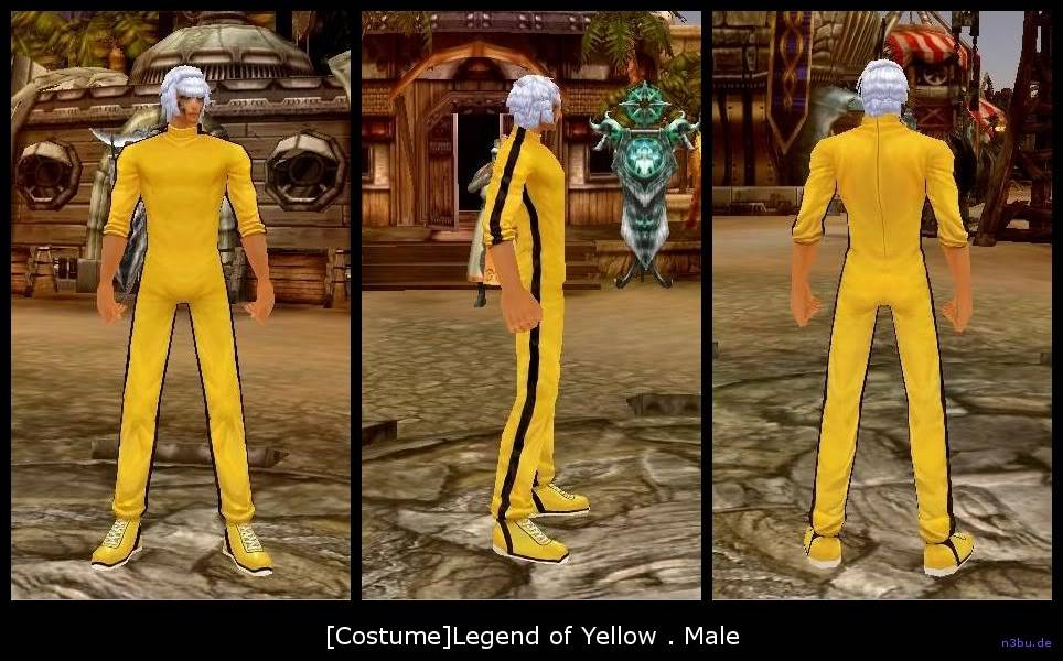 Dragonas da Fantasia CostumeYellowSuitMale