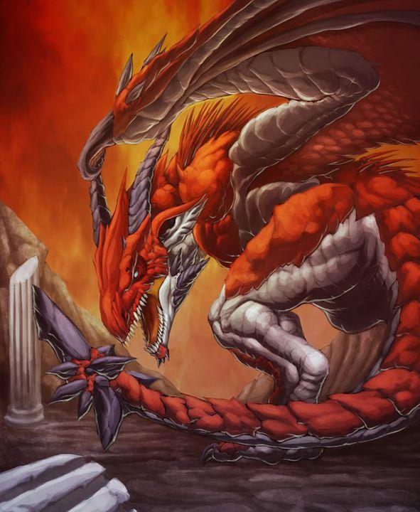 El Dragon de Fuego - Wyvern God DragondeAresbyCarlosHerrera