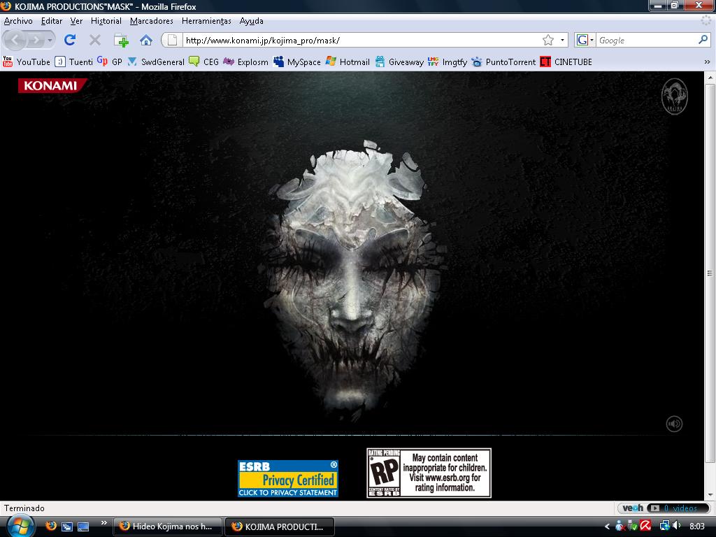 Hideo Kojima nos ha tomao el pelo. Nueva cuenta atrás activa Mask