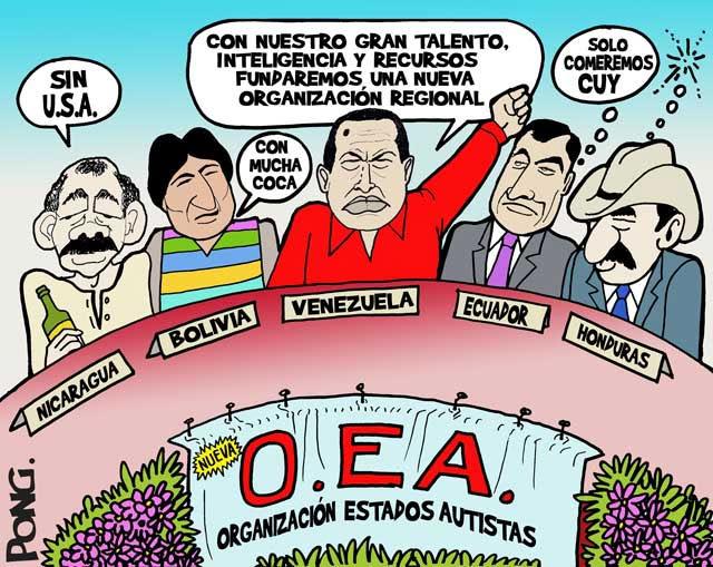 """""""¡ CON OEA O SIN OEA, GANAREMOS LA PELEA !""""SEGUN ESTAS RATAS 1-1-A-OFEA-A-2"""