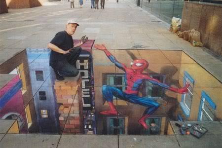 lukisan lukisan 3D yang keren! Dua
