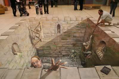 lukisan lukisan 3D yang keren! Dungeon