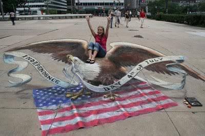 lukisan lukisan 3D yang keren! Eagleflag
