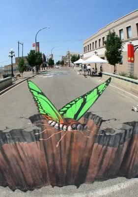 lukisan lukisan 3D yang keren! Normal_sidewalk_art
