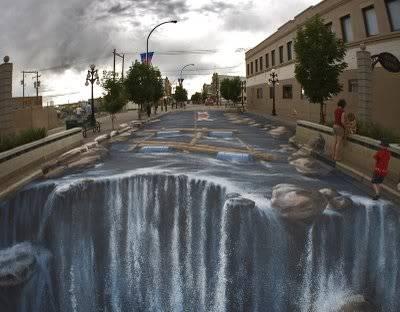 lukisan lukisan 3D yang keren! Waterfall-3d-8
