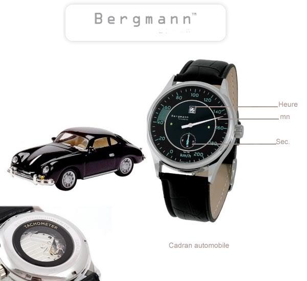 Marque GOTTLIEB - BERGMANN et montres automobiles BERGMANN-Porsche356