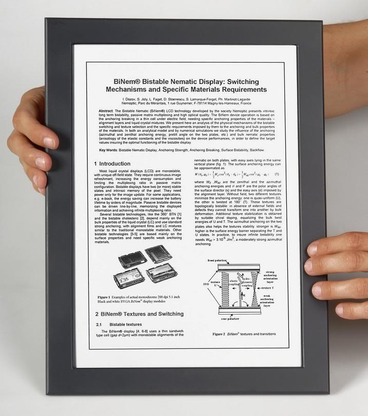 La première montre à E-Ink la Phosphor E-PAPERBINEMDENEMOPTICS