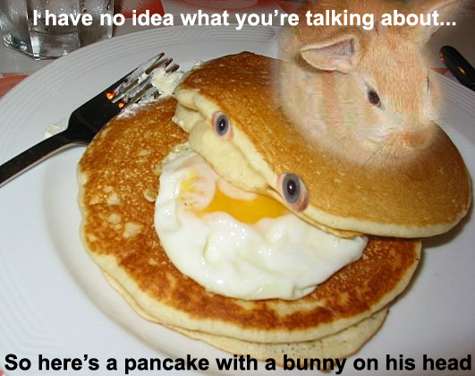 Pancake w/ Bunny on head