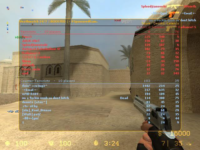 Some Screenshots From my pro days in cs:s FreeForAllDeathmatch