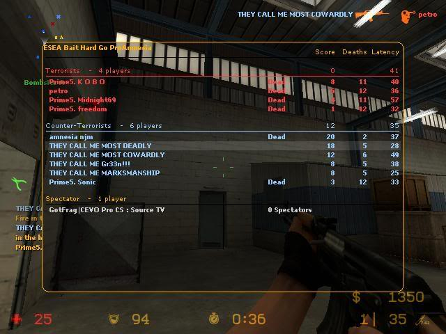 Some Screenshots From my pro days in cs:s Prime5