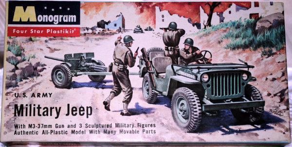 Monogram 1/32ème US Army military jeep and gun DSC_0077