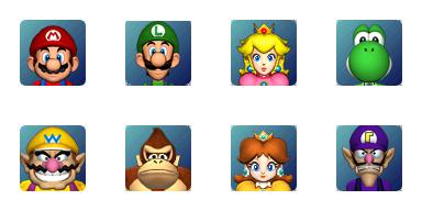 Super Pack com 116 Chars do Mario + Pequeno Faceset Mario Party MarioFaces