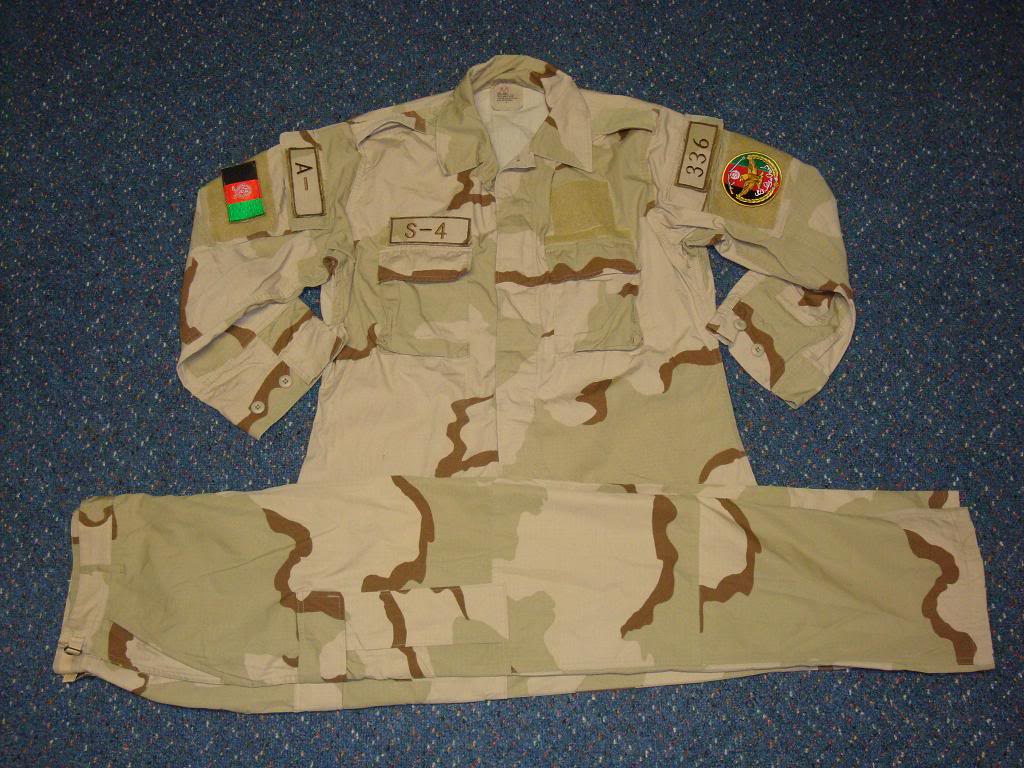 AFGHAN SPECIAL FORCES used 3 COLOUR uniform AFGHAN3COLOUR1A
