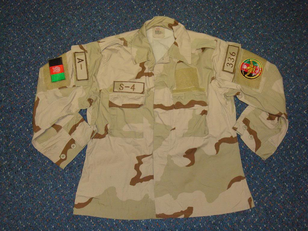 AFGHAN SPECIAL FORCES used 3 COLOUR uniform AFGHAN3COLOUR1B