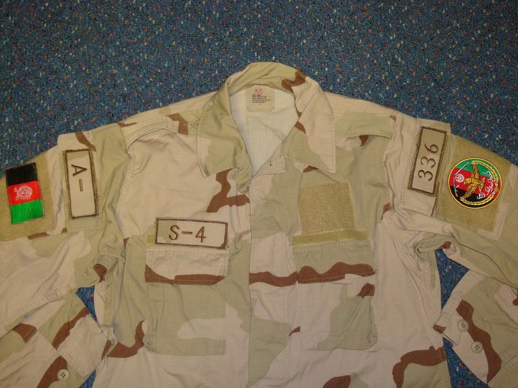 AFGHAN SPECIAL FORCES used 3 COLOUR uniform AFGHAN3COLOUR1C