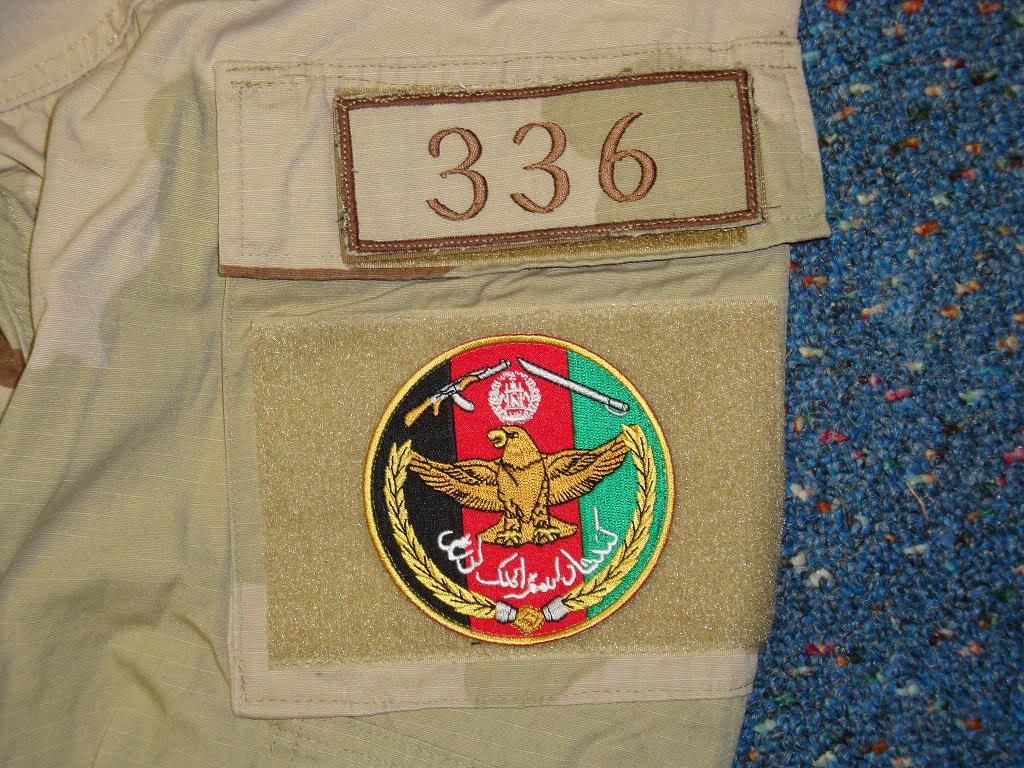 AFGHAN SPECIAL FORCES used 3 COLOUR uniform AFGHAN3COLOUR1E