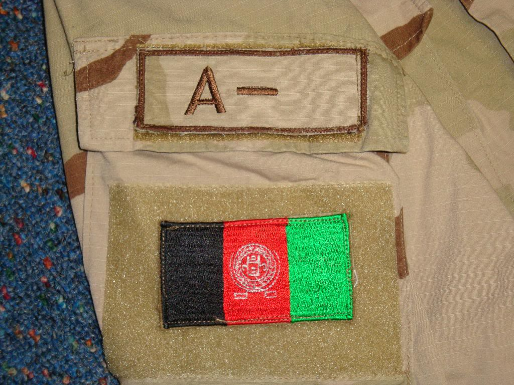 AFGHAN SPECIAL FORCES used 3 COLOUR uniform AFGHAN3COLOUR1F