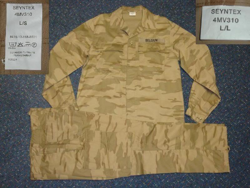 DESERT camouflage uniform BELGIUMDESERT1A