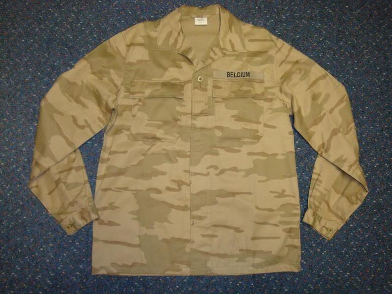 DESERT camouflage uniform BELGIUMDESERT1B