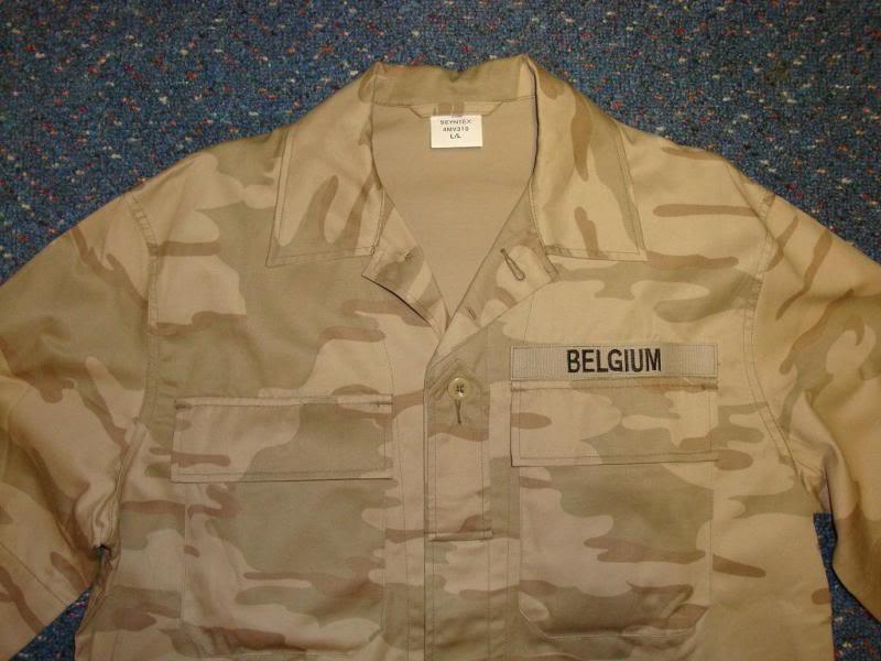 DESERT camouflage uniform BELGIUMDESERT1C