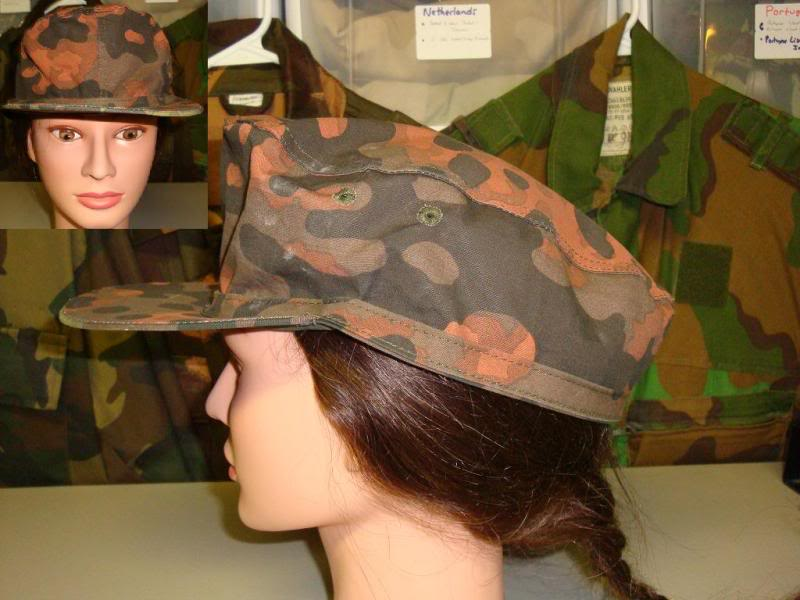 Reproduction Fallschirmjager helmet & 44 dot camouflage cover & some repro items GERMANYCAP4B