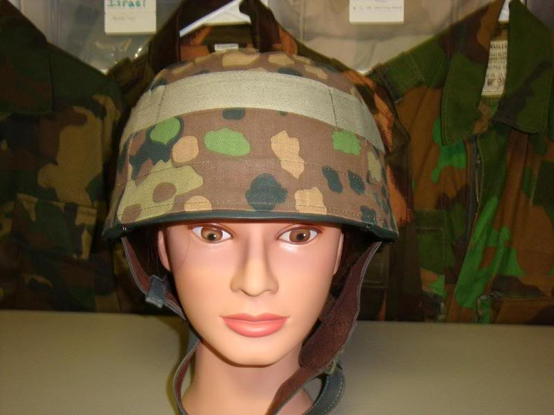Reproduction Fallschirmjager helmet & 44 dot camouflage cover & some repro items GERMANYHELMET2A