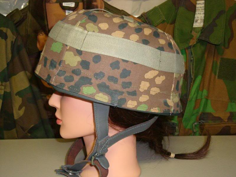 Reproduction Fallschirmjager helmet & 44 dot camouflage cover & some repro items GERMANYHELMET2B