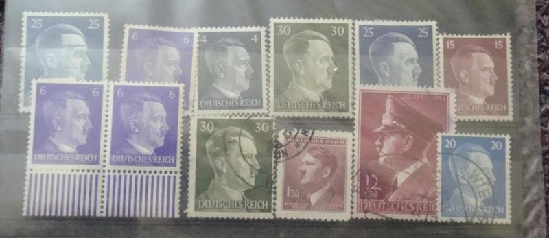 "Third Reich stamps...including ""Hitler head"" issues GERMANYSTAMPS10"