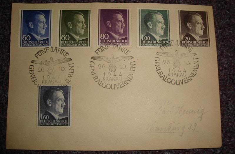 "Third Reich stamps...including ""Hitler head"" issues GERMANYSTAMPS5"