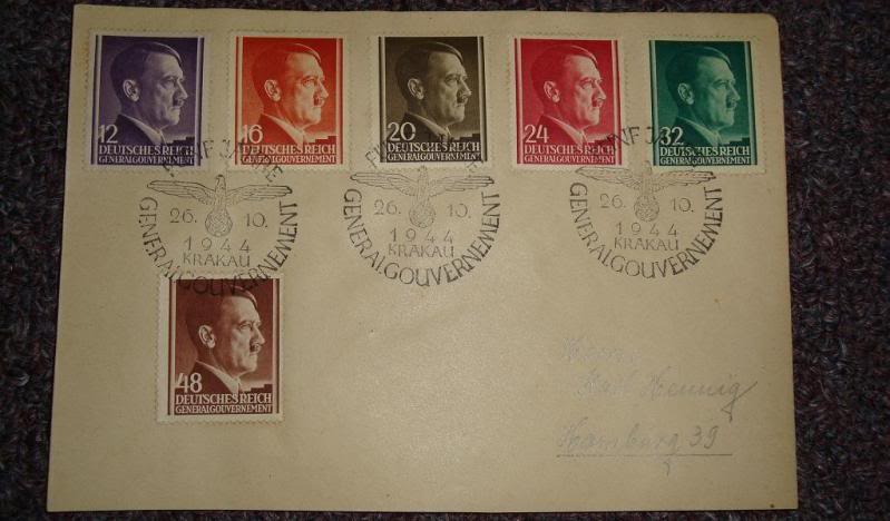 "Third Reich stamps...including ""Hitler head"" issues GERMANYSTAMPS6"