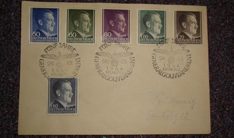 "Third Reich stamps...including ""Hitler head"" issues GERMANYSTAMPS7"