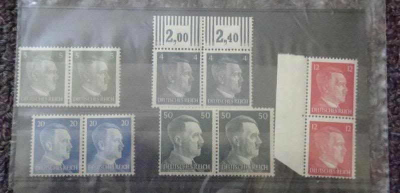 "Third Reich stamps...including ""Hitler head"" issues GERMANYSTAMPS8"
