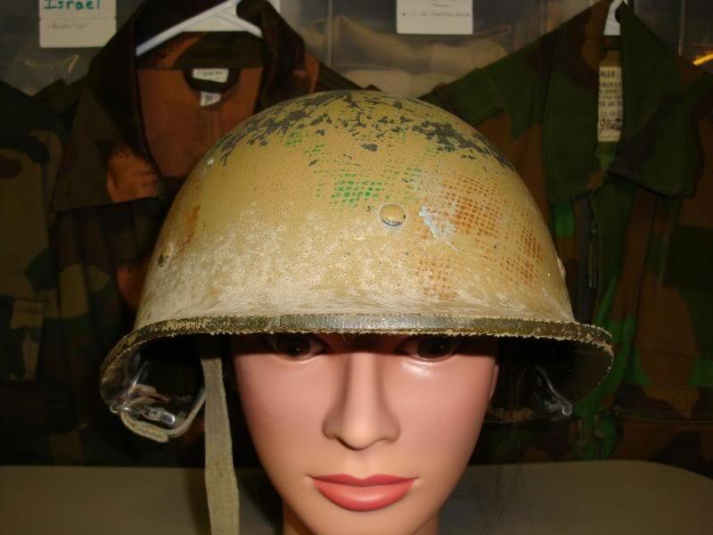 my 2 Iraqi helmets IRAQHELMET2A