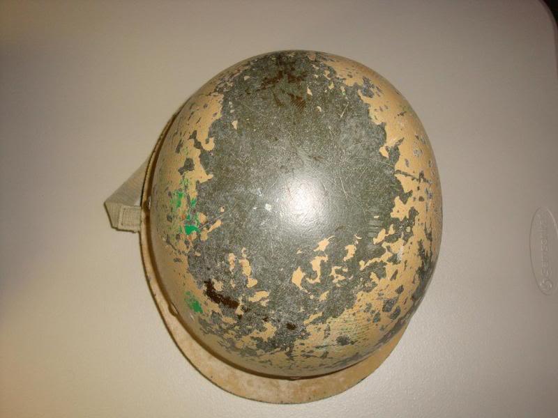 my 2 Iraqi helmets IRAQHELMET2D
