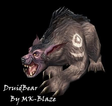 Recopilación de modelos de World of Warcraft para Warcraft III DruidBear
