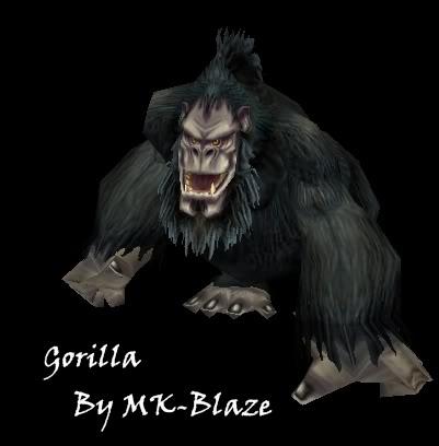 Recopilación de modelos de World of Warcraft para Warcraft III Gorilla
