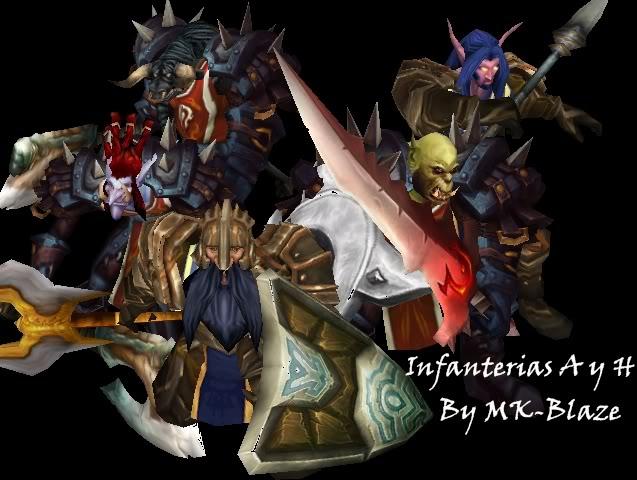 Recopilación de modelos de World of Warcraft para Warcraft III Infanterias