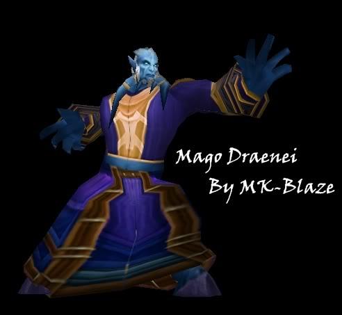 Recopilación de modelos de World of Warcraft para Warcraft III MagoDraenei