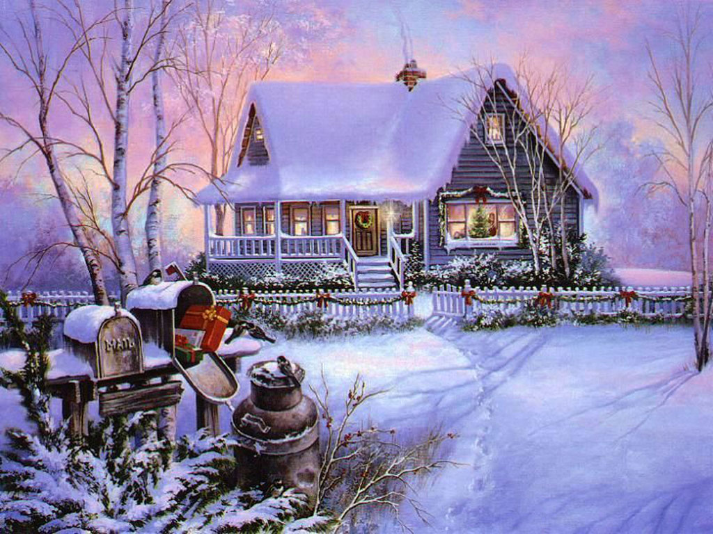 Some cute wallpapers I found (almost are black and blue) Christmas_Scenes_1024x768_07