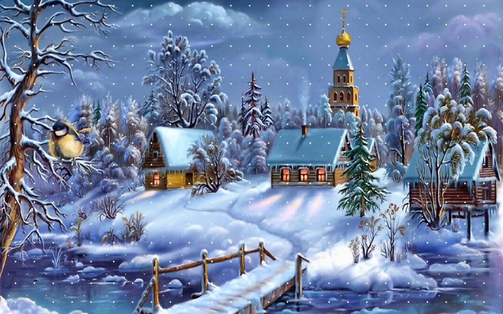 Some cute wallpapers I found (almost are black and blue) Christmas-town-wallpaper