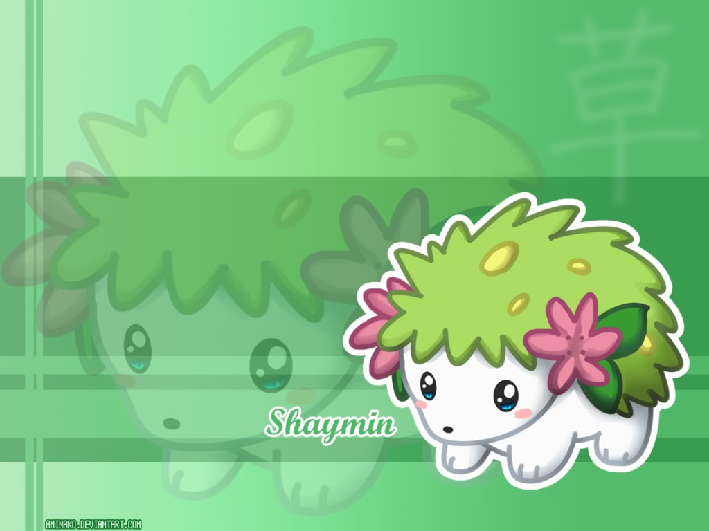 Some cute wallpapers I found (almost are black and blue) Shaymin