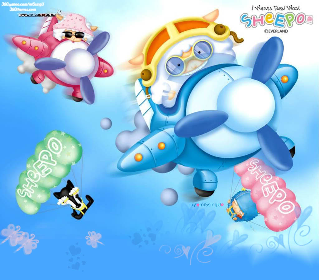 Some cute wallpapers I found (almost are black and blue) Sheepo_top4b