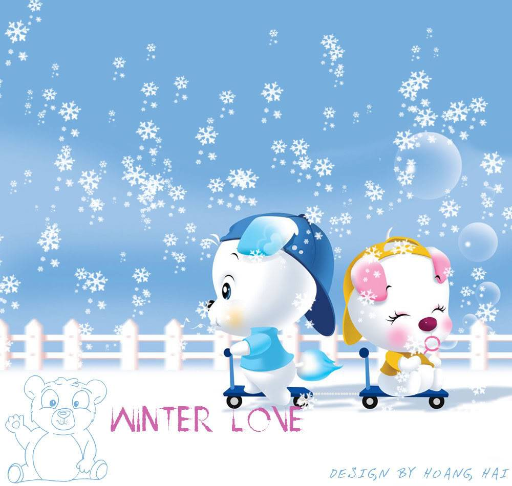 Some cute wallpapers I found (almost are black and blue) Winter-love_bot